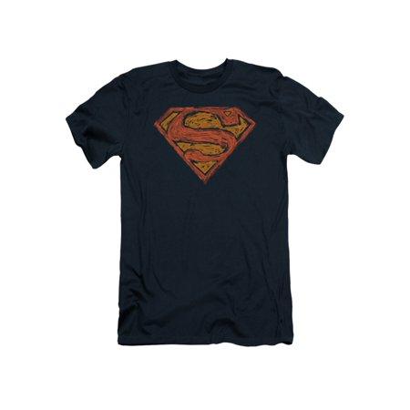 Superman DC Comics Messy S Adult Slim T-Shirt Tee](Supermans City)