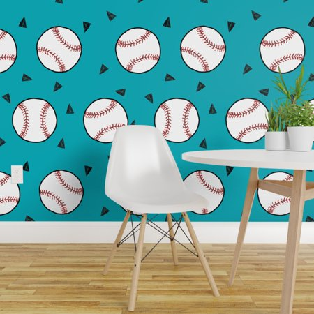 Peel and Stick Removable Wallpaper Baseball Sports Sport Baseball Spor
