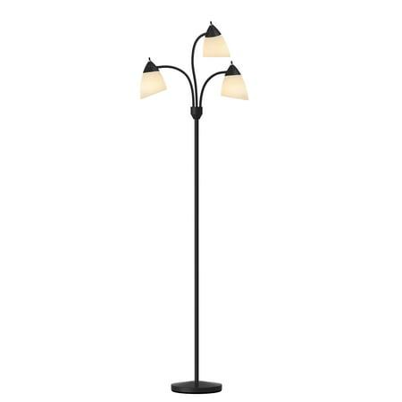 Mainstays 3 Head Floor Lamp, Black