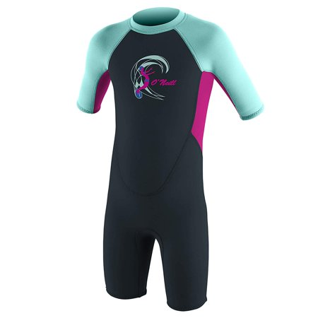 O'NEILL TODDLER REACTOR-2 2MM BACK ZIP SHORT SLEEVE SPRING WETSUIT Short Sleeve Womens Wetsuit