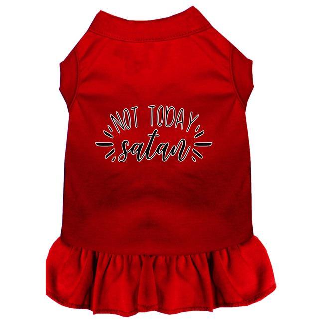 Not Today Satan Screen Print Dog Dress Red Xxl (18) - image 1 de 1