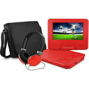 """onn. 7"""" Portable DVD Player with Matching Headphones and Bag"""