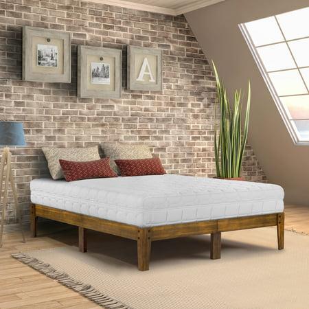 - GranRest 14 inch Smart Wood Platform Bed, Full