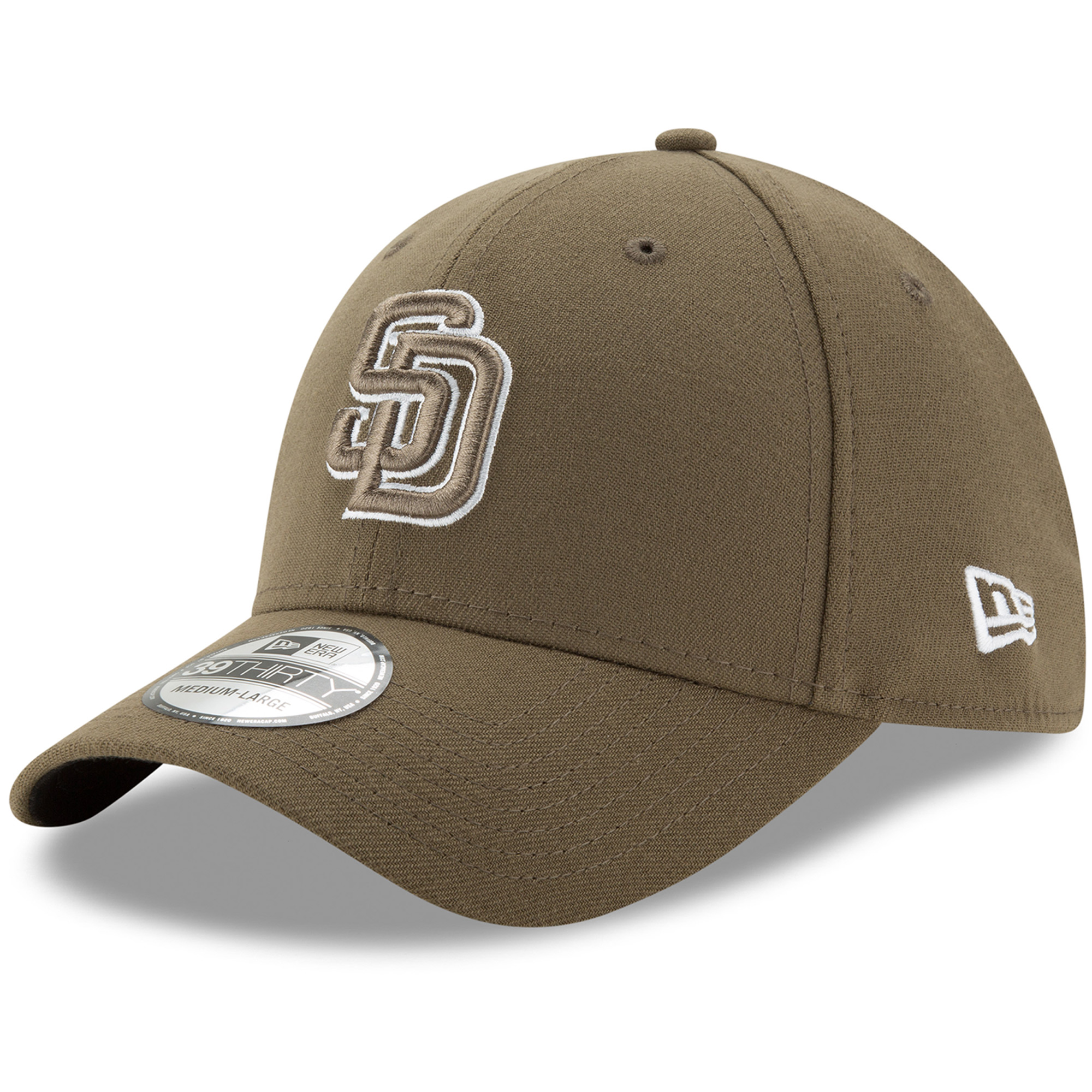 San Diego Padres New Era Alternate Team Classic 39THIRTY Flex Hat - Olive