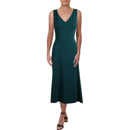 Ralph Lauren Sundress - Lauren Ralph Lauren Womens Ellyn Tea-Length V-Neck Midi Dress
