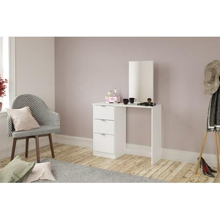 Polifurniture New Minas Vanity with Mirror, White ()
