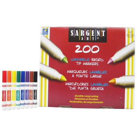 Sargent Art® Best-Buy Washable Broad Tip Marker Assortment, 8 Colors, 200