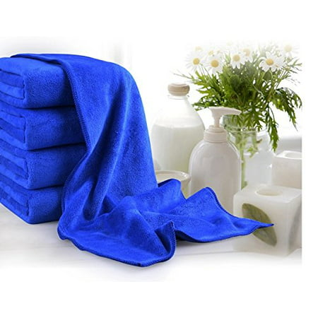 Microfiber Car Large Cleaning Drying Towel Blue 63 Inchx23.6 Inch Reusable Durable Washable ()