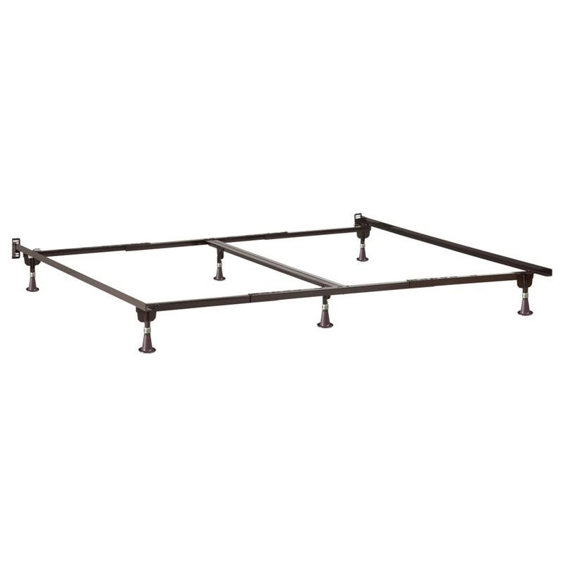 Metal Bed Frame Twin-Full-Twin XL-Queen-California King-King Glides by Atlantic Furniture