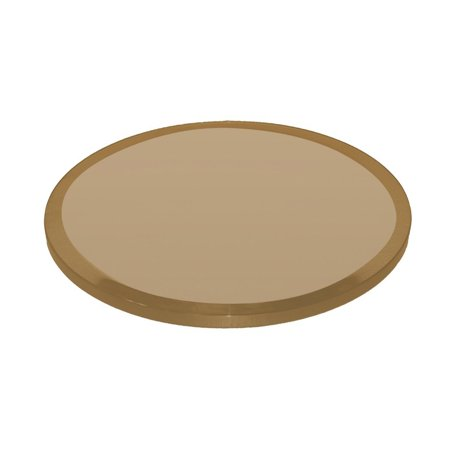 Fab Glass Mirror Bronze Glass Table Top Round Thick Beveled Edge Tempered