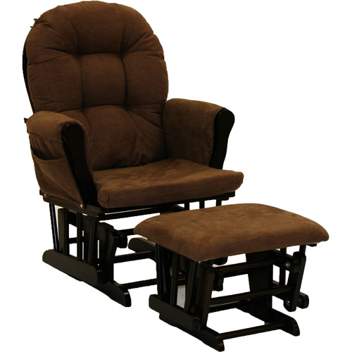 Storkcraft Hoop Glider and Ottoman, Espresso and Chocolate