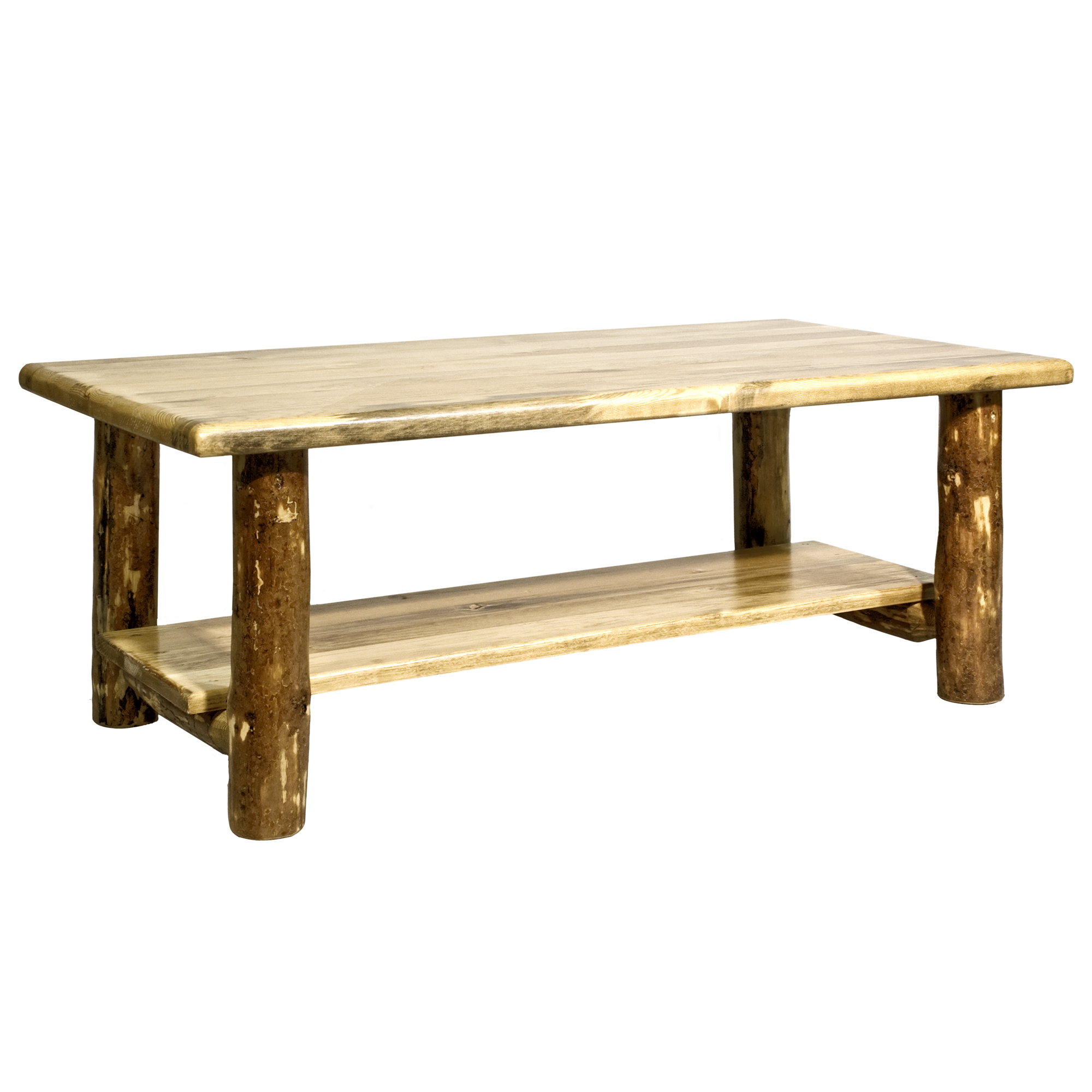 Glacier Country Collection Coffee Table w/ Shelf