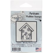 """Joggles Cling Stamp, 2.5"""" x 3"""", Wonky House #10"""