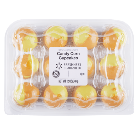Freshness Guaranteed Candy Corn Halloween Mini Cupcakes 12 Ct 10 Oz