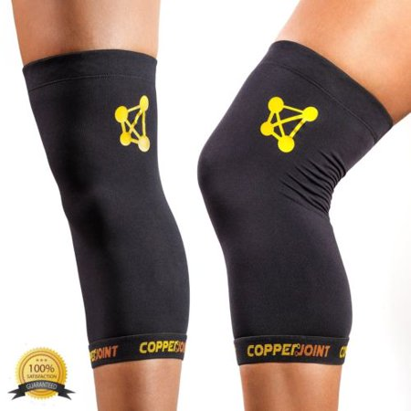 8efdde2a2a copperjoint knee sleeve #1 copper infused compression support   recovery  brace - Walmart.com