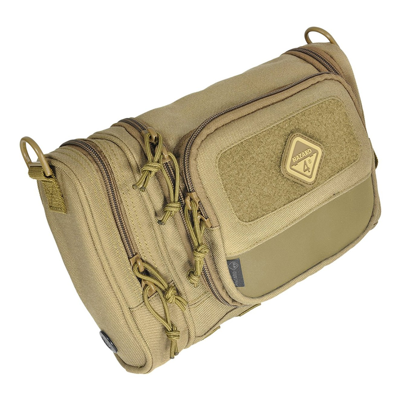 Hazard 4 RVL-CRD-CYT Reville Heavy Duty Grooming Camping Toiletry Bag Kit, Tan