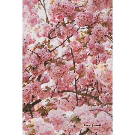 Floral Journal - Cherry Blossom Tree: 6 X 9, Lined Journal, Blank Book Notebook, Durable Cover,150 Pages for Writing - Blank Writing Journals