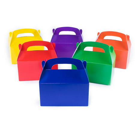 12 Assorted Bright Color Treat Boxes Birthday Party Favors Shower Favor Box by Super Z - Shower Favor Boxes
