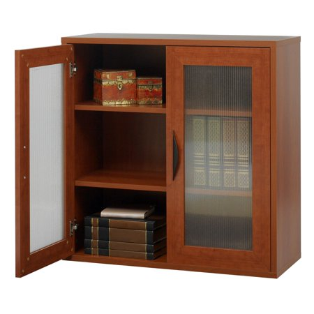 Cherry Traditional Bookcase - Storage Bookcase with Doors 30-in. High - Cherry