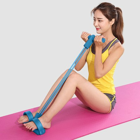 snorda Ankle Puller Sit Up Mat Pull Rope Foot Pedal Exerciser Fitness Equipment Hydraulic Fitness Equipment