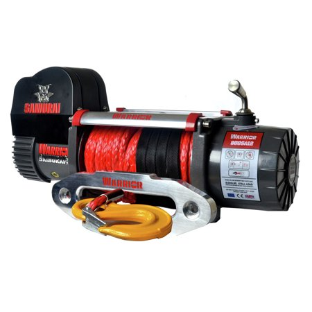 Warrior Winches S8000-SR 8,000 lb. Samurai Series Planetary Gear Winch with Synthetic (Hydraulic Planetary Winches)