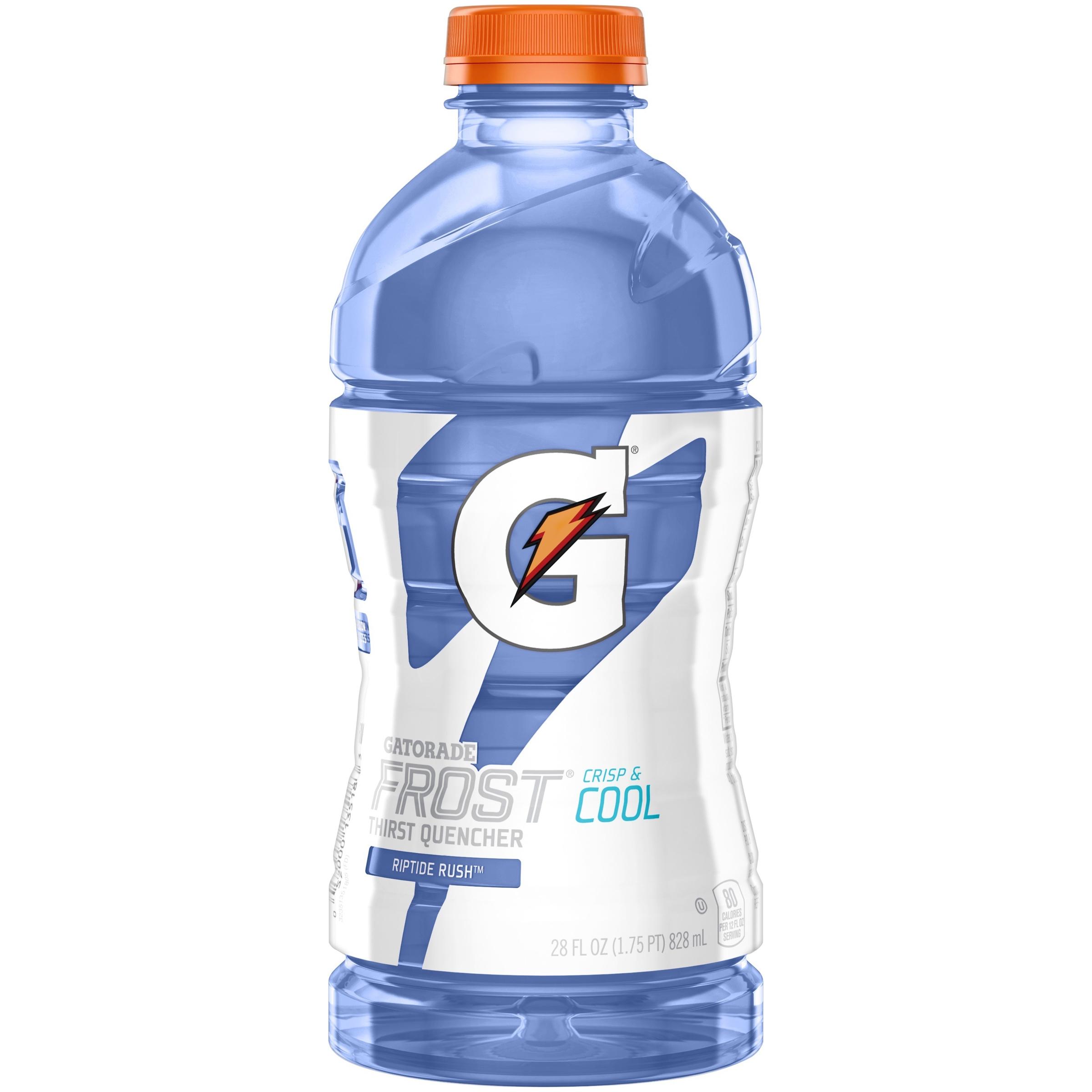 Gatorade Frost Thirst Quencher Riptide Rush Sports Drink 28 fl. oz Plastic Bottle