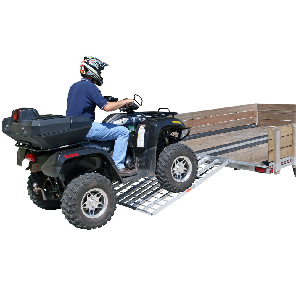 """60"""" Triple Folding ATV, Motorcycle, Lawn Tractor Loading Ramps for Utility Trailers"""