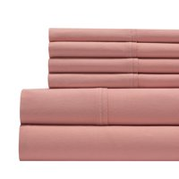 800 Thread Count Cotton Rich 6-Piece Sheet Set - King - Coral Pink