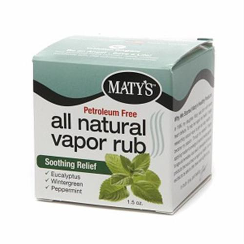 Maty's All Natural Vapor Rub 1.50 oz (Pack of 6)