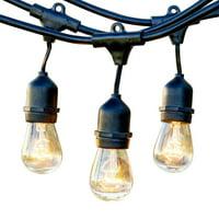 Newhouse Lighting 48ft String Lights 15 Sockets Warm White Light Bulbs