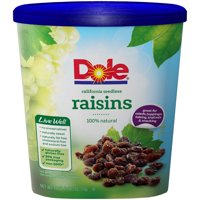 Dole California Raisins, Seedless, 18 oz