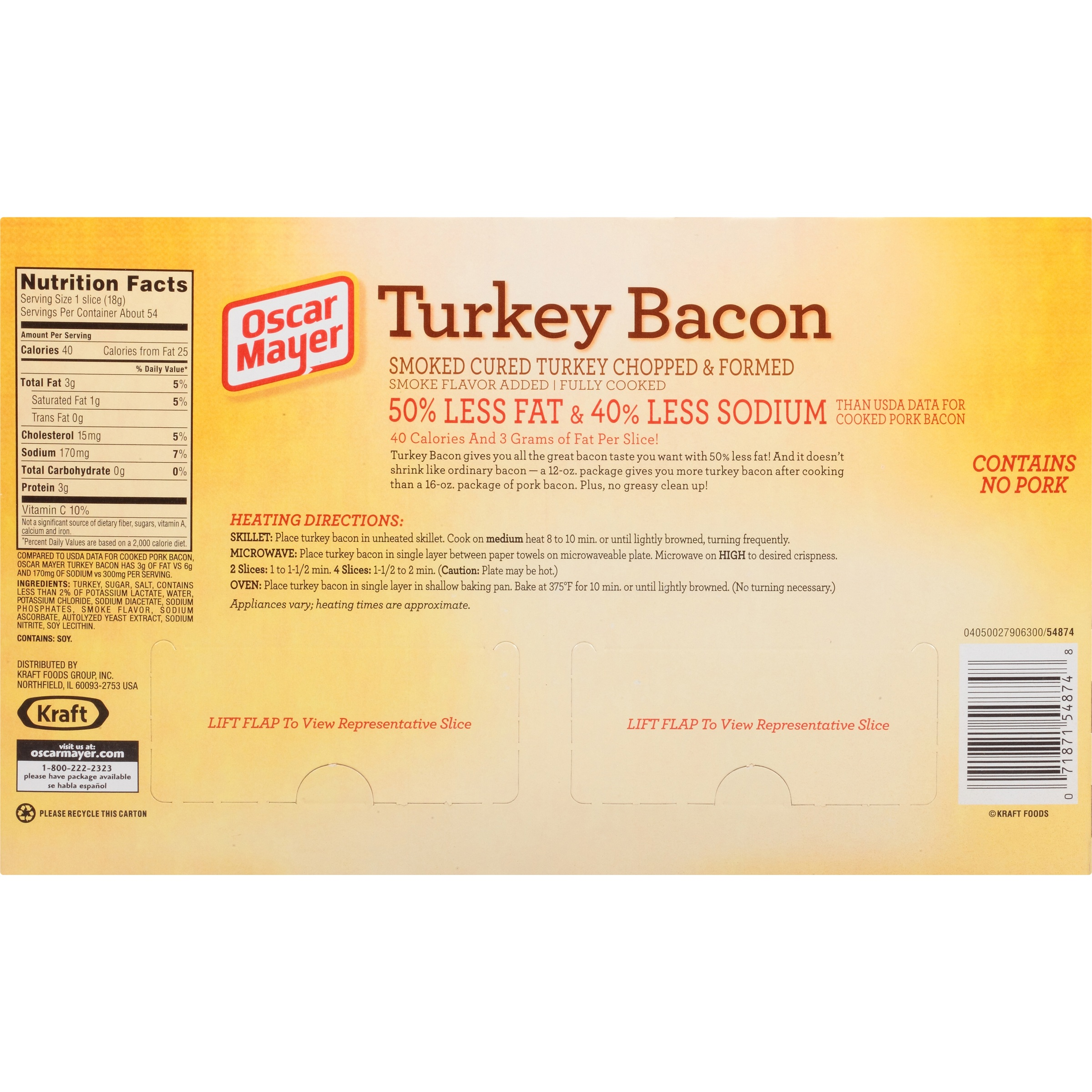 recipe: how many calories are in oscar mayer turkey bacon [20]