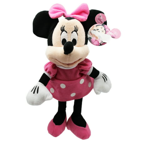 374af772047 Disney s Minnie Mouse in Pink Polka Dot Dress Small Kids Plush Toy (9in) -  Walmart.com