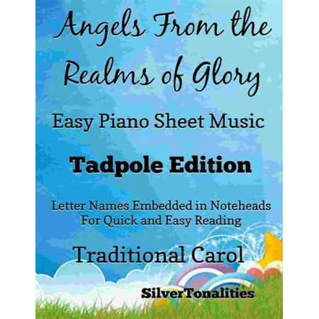 Angels From the Realms of Glory Easy Piano Sheet Music Tadpole Edition - eBook