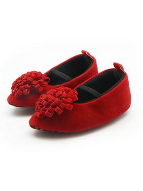 Funcee Cute Baby Girl Princess Shoes Anti-slip Dress Shoes