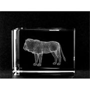 Asfour Crystal 1159-70-66 2 L x 2. 75 H x 2 W inch Crystal Laser-Engraved Lion Animals and Nature Laser-Cut