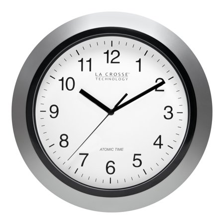 - La Crosse Technology WT-3102S 10 Inch Silver Atomic Analog Wall Clock