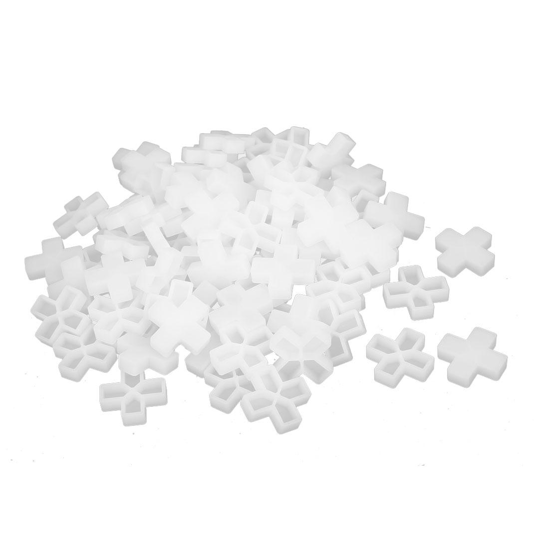 Wall Floor Ceramic Tile Plastic Cross Spacer 10mm White 100pcs
