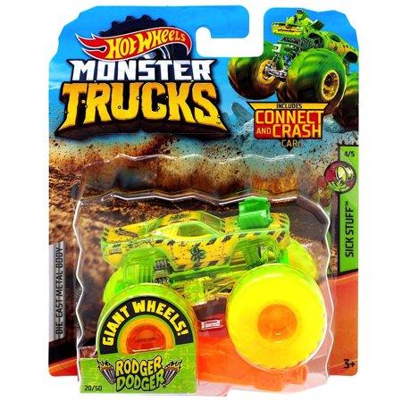 Rodger Dodger Giant Wheels Sick Stuff Monster Trucks 1:64 Scale