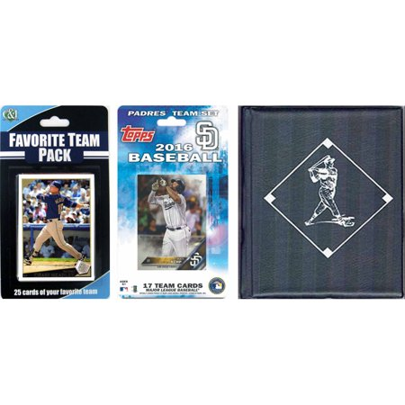 C&I Collectables MLB San Diego Padres Licensed 2016 Topps Team Set and Favorite Player Trading Cards Plus Storage Album ()