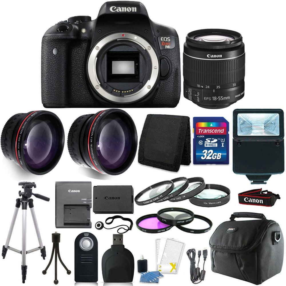 Canon EOS Rebel T6 DSLR Camera + EF-S 18-55mm IS II Lens