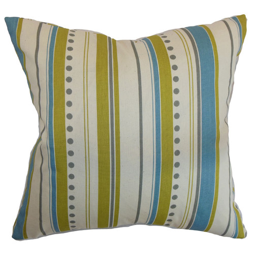 The Pillow Collection Hearst Stripes Cotton Throw Pillow