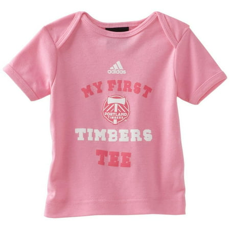 Adidas MLS Girls 18 Months My First Portland Timbers Tee Pink