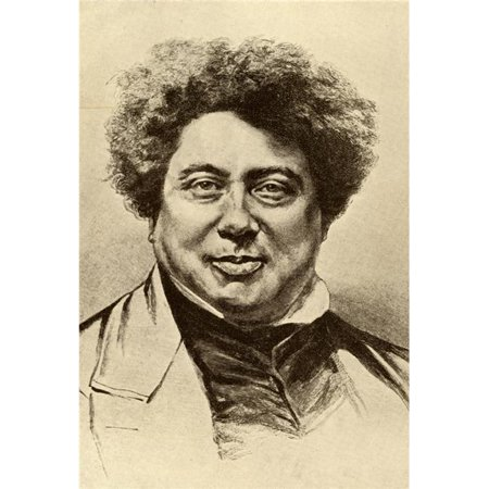 Alexandre Dumas Senior 1803 1870 French Author Known As P re From The Book Poster Print, Large - 24 x 36 - image 1 of 1