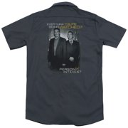 Person Of Interest Watched (Back Print) Mens Work Shirt