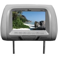 """Tview T726PLGR 7"""" TFT/LCD Car Headrest With Monitorpair Gray"""
