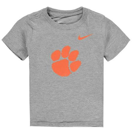 Clemson Tigers Nike Toddler Logo T-Shirt - Heathered Gray