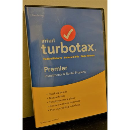 TurboTax Premier Federal Returns, Federal E-File and State Returns 2018 -  PC & MAC