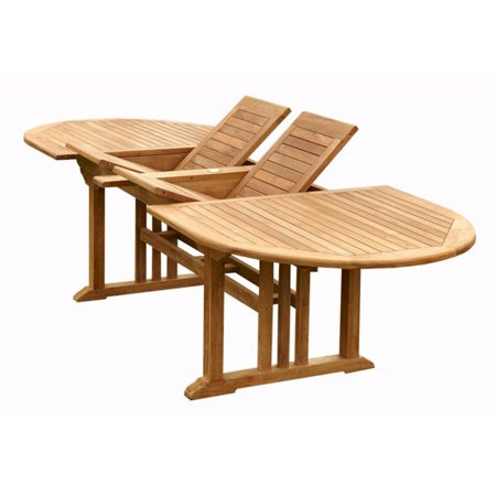 Extension Outdoor Dining Table - Anderson Teak Sahara Oval Double Extension Outdoor Dining Table