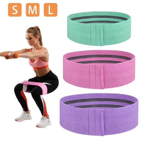 TSV Set of 3 Hip Resistance Bands for Legs and Butt Exercise Bands Thigh Workout Bands Fitness Circle Booty Loop Bands Rubber Bands Sports Bands Cloth Bands for